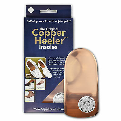 2 Pairs Of Copper Heelers Arthritis Insoles - All Sizes - Pain Relief Insoles
