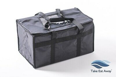 "Take-away Delivery Bags 21""x12""x10"" Strong Insulated Thermal Food Storage BagT8"