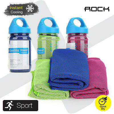 ROCK Sports Instant Cooling Towel Quick Dry Running Swimming Jogging Gym Pad