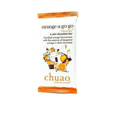 Chuao Chocolatier 900347 Orange A Go-Go ChocoPod Mini Bar 24 Mini Bars