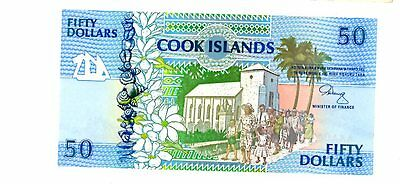 Cook Islands ... P-10 ... 50 Dollars ... ND(1992) ... *UNC*