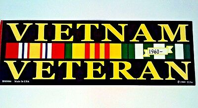 Vietnam Veteran Bumper Sticker  9 1/2""