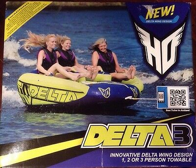 HO Sports Delta 3 Water Sports Towable Tube Green/Blue 3 Person NEW