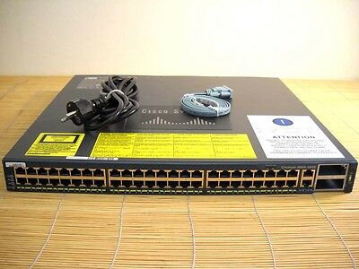Cisco Catalyst WS-C4948-10GE-S 48*10/100/1000 + 2x 10GE(X2) 1x AC Gigabit Switch