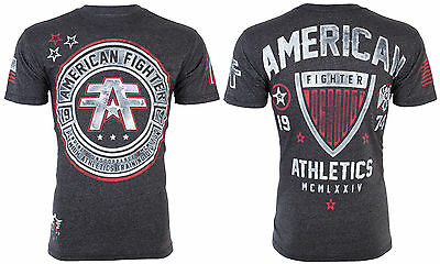 AMERICAN FIGHTER Mens T-Shirt CUMBERLAND Athletic BLACK Biker Gym MMA UFC $40