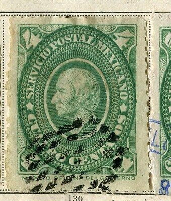MEXICO;  1884 early classic issue fine used 4c. value