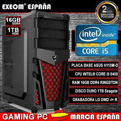 ORDENADOR PC GAMING INTEL CORE i5 6400 6ª GEN 16GB DDR4 1TB HDMI - MARCA ESPAÑA