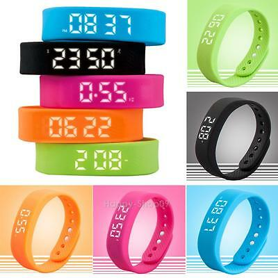 T5 3D Smart Step Gauge Bracelet Wirstband LED Display Pedometer Activity Tracker