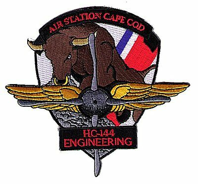 IRON-ON Air Sta Cape Cod HC-144 Engineering bull W5543 USCG Coast Guard patch