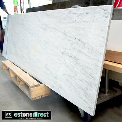 NEW White Carrara Marble Fireplace Hearth, Mantle, Table Top 1800x500x18mm