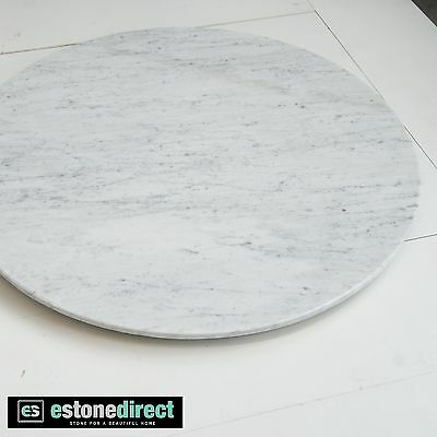 Round White Carrara Marble Fireplace Hearth, Coffee Table Top - 1000mm $595!