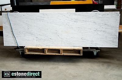 NEW White Carrara Marble Fireplace Hearth, Mantle, Table Top - 2000x600x18mm