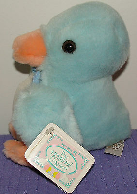 """Ganz Duck Duckie Blue He105As Vintage 1990 7"""" Tall New With All Tags ~ Di"""