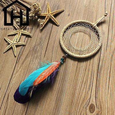 Original Handmade Dream Catcher With Feathers Hanging Decoration