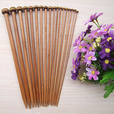 "1 Pair 2.0mm-12.0mm 10""carbonized bamboo single pointed knitting needles"