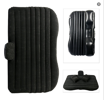 Car Travel Inflatable Mattress Inflatable Bed Camping +Two Air Pill&Pump - Black