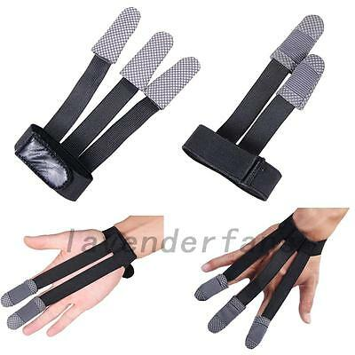 Archery Finger Glove Hand Protector Hunting Shooting Guard Bow String