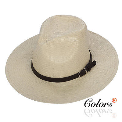 Color5 Unisex Straw Fedora Trilby Hat Cap with Band