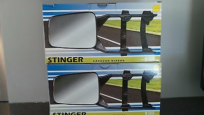 2X Stinger Quality Caravan Towing Extension Mirrors. Easy Fit.  Motorama Hull