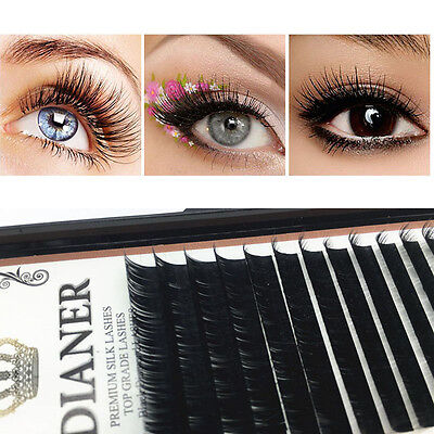 8/10/12/14mm Faux Cils Extension Naturel Individuel False Eyelashes Maquillage