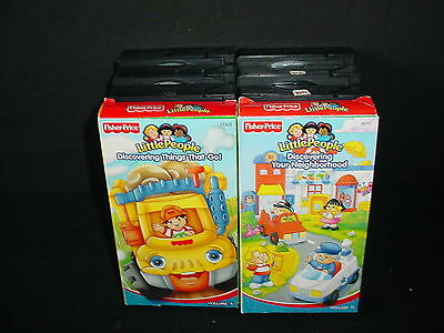 Lot of 8 Fisher Price Little People Video Tapes VHS