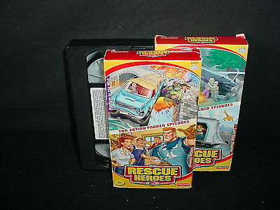 Lot of 3 Fisher Price Rescue Heroes Video Tapes VHS