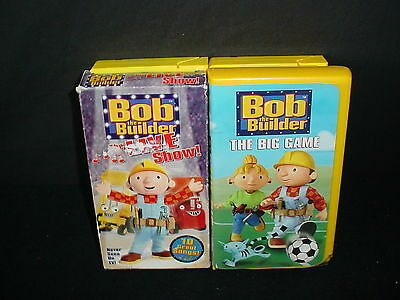 Lot of 4 Bob The Builder Video Tapes VHS