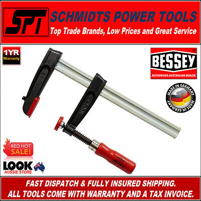 BESSEY TPN-BE SERIES PROFESSIONAL F CLAMP 250mm x 100mm TPN25S10BE WOODWORKING