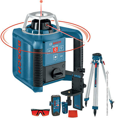 Self-Leveling Rotary Laser + Layout Beam Complete Kit Bosch Tools GRL300HVCK New