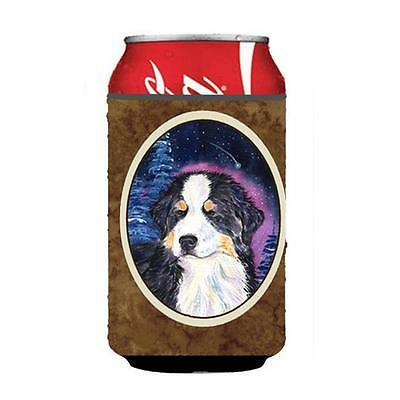 Starry Night Bernese Mountain Dog Can or bottle sleeve Hugger 12 oz.