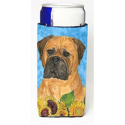 Bullmastiff In Summer Flowers Michelob Ultra bottle sleeves For Slim Cans 12 oz.