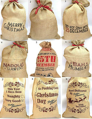 Large Hessian Santa Sack Merry Christmas Sacks Christmas Decoration Stocking