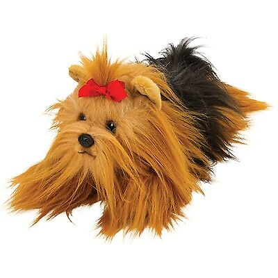 Suki Yomiko Classics Medium Plush Life Like Yorkshire Terrier Resting Yorkie Dog