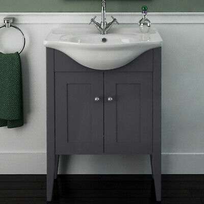 Traditional Victorian Bathroom Oak Carolla Vanity Basin Sink Unit with-out Tap