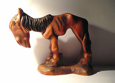 """Vintage Comical Donkey/mule Figurine """"ol' Reliable"""" Thriftco Japan"""