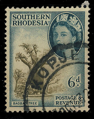 """Southern Rhodesia - Sg84 Cancelled """"kopje"""" Double Circle Date Stamp"""