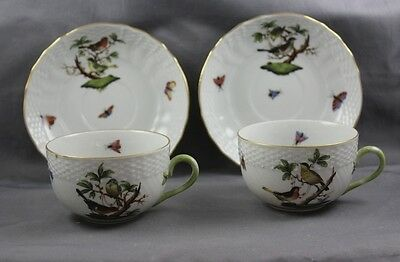 Herend China Rothschild Bird Cup & Saucer (s) 1726  Sold Individually