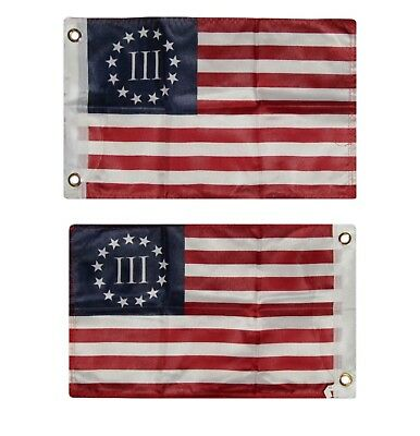 12x18 Betsy Ross Nyberg 3% III 2 Faced 2-ply Wind Resistant Flag 12x18 Inch