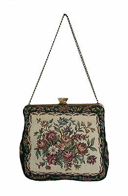 G.H.L. - Princess Style - Vintage Tapestry Evening Bag - Germany - 20th Century