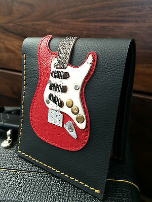 Hand Stitched Mens Leather Electric Guitar Wallet - Gary Moore John Frusciante
