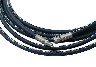 "High Pressure Hose 1/4"" x 10m- 3260 PSI Single Braided 3/8"" Male-Female Hose End"