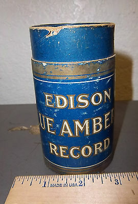 Edison Blue Amberol Record Wax Cylinder & box, home sweet home the world over