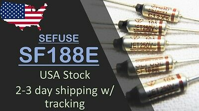 USA Stock, Fast ship - 5 pcs SF188E SEFUSE NEC Thermal Fuse 192°C 10A 250V