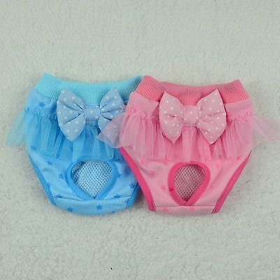 Pets Dogs Diaper Bowknot Underwear Puppy Physiological Panties Sanitary Shorts