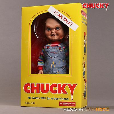 "Child's Play - Chucky 15"" Sneering Good Guy Action Figure Doll with Sound - New"