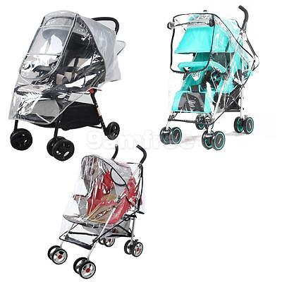 Universal Buggy Pram Pushchair Baby Stroller Rain Cover Mosquito Wind Resist NEW