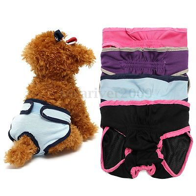 Safety Female Pet Dog Physiological Pants Menstruation Underwear Cotton Panties