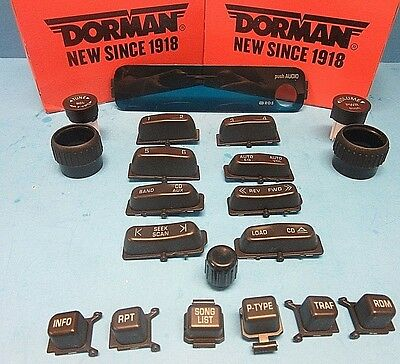 Set of (20) Radio & CD Player Knobs/buttons replacement Kit for GM OEM# 15927261