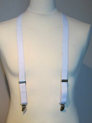 Vintage Braces - Clip On - white