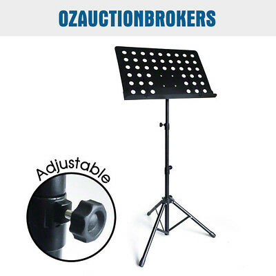 New Heavy Duty Professional Stage Music Sheet Stand Adjustable Folding Au Stock
